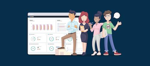 The Monsido Web Governance Platform and mascots