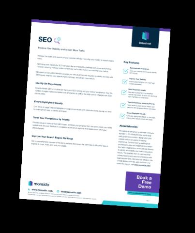 SEO Data Sheet