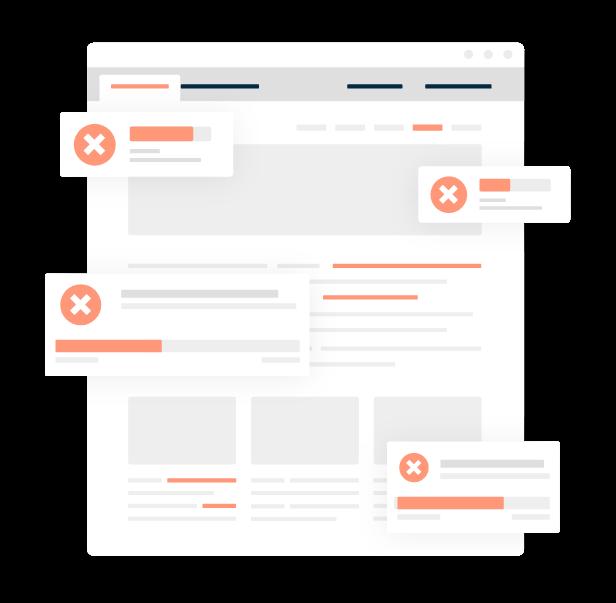 Illustration of errors being resolved inside Monsido's PageCorrect Toolbar