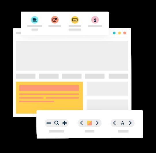Illustration of Monsido's PageAssist Toolbar
