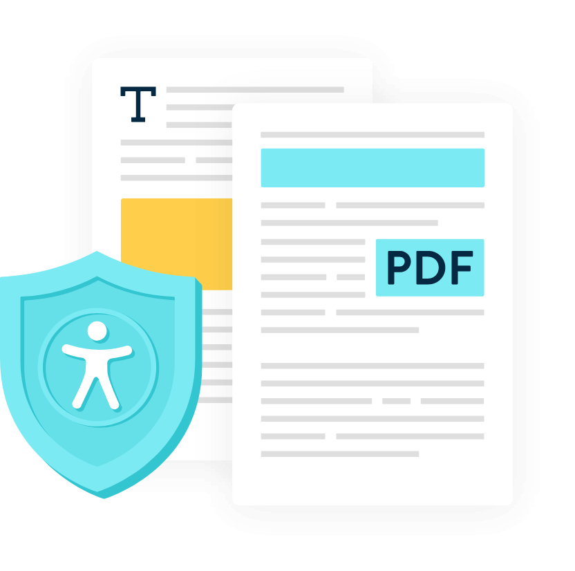 Illustration of Monsido PDF Accessibility Add-On