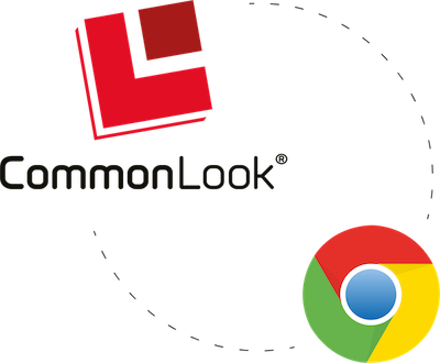 The CommonLook and Google Chrome logos