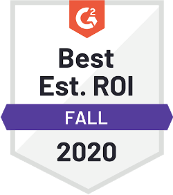 G2 Best Est. ROI Fall 2020