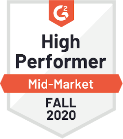 G2 High Performer Mid-Market Fall 2020