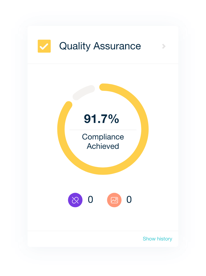 Quality Assurance results displayed inside the Monsido platform.