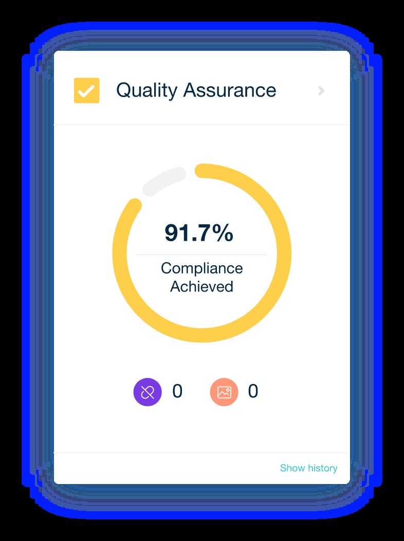 Quality Assurance results displayed inside the Monsido platform.