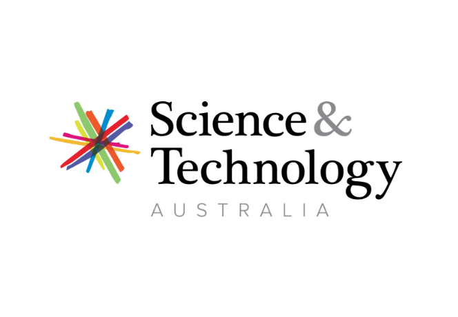 Science & Technology Australia logo.