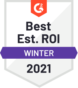 G2 Best Est. ROI Winter 2021