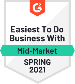 G2 Easiest to do business with Mid-Market Spring 2021