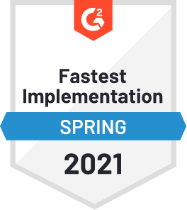 G2 Fastest implementation Spring 2021
