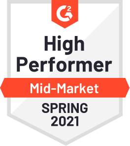 G2 High performer Mid-Market Spring 2021