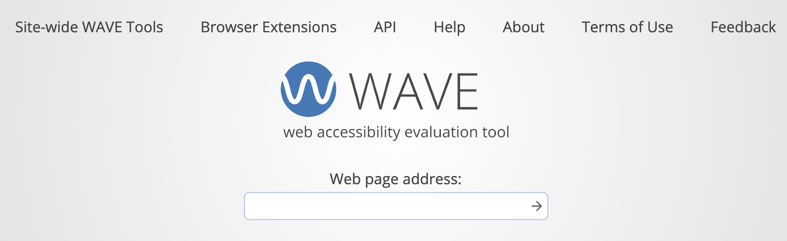 A screenshot of the header of the WAVE homepage