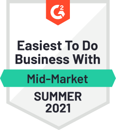 G2 Easiest to do business with Mid-Market Summer 2021